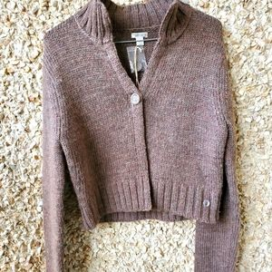 American Eagle Outfitters Crop Brown Sweater